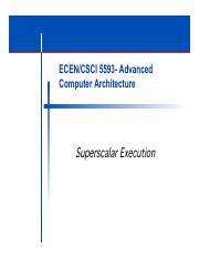 ECEN5593-Superscalar