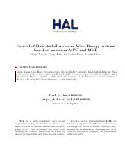 Control of Dual-Airfoil Airborne Wind Energy systems based on nonlinear MPC and MHE