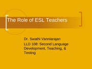 The Role of ESL Teachers