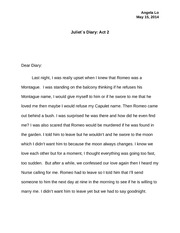 Juliet's Diary Act 2