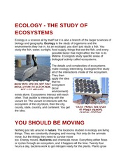 Ecology - The Study of Ecosystems