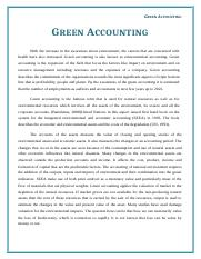 Work # 1 Green Accounting (1500 words) Nov 05, 2015.docx