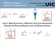 CHEM 233 - lab6_233SU09 - Base Extraction of Benzoic Acid from Acetanilide