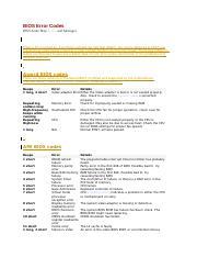 BIOS Beep Codes docx - BIOSBeepCodes(&Phoenix ,orrebooted