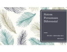 6. Sistem Persamaan Differential