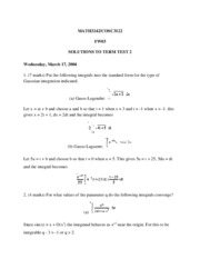 MATH3242 Term Test 2 Solutions