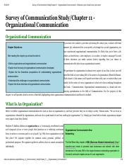 Survey of Communication Study_Chapter 11 - Organizational Communication - Wikibooks, open books for