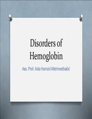 Disorders of Hemoglobin - Sickle cell anemia pp.pdf