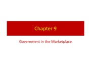 Chapter 9 - Government in the Marketplace