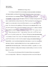 Self-Modification Prjoect Part C Essay