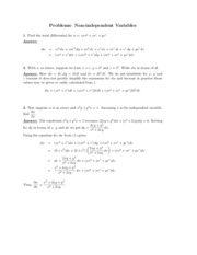 Non-independent Variables problems study guide