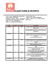claim form & reports ahchee.pdf