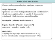 Depression & affective disorders Fall 2009