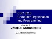 CH8- Machine Instructions
