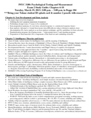 PSYC 3180 Exam 2 Study Guide