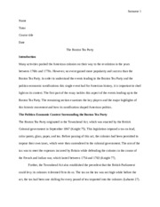 boston tea party essay
