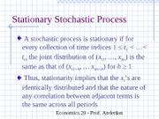 ch11Stationary Stochastic Process