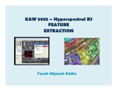 Lecture 8 ii - Feature extraction