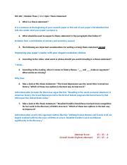 identify thesis statement worksheet