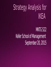 strategic analysis and proposal for ikea The company ikea is a world renowned furnishing ikea case study: strategic marketing & management – gaining competitive company's strategic analysis.