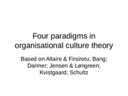 Four_Paradigms_In_Organizational_Culture_Theory