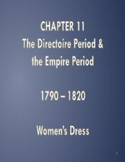 Chapter 11 - Directoire  Empire - Women - Students
