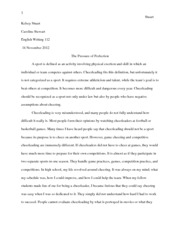 CW - Cheer Research Paper