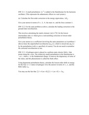 Homework 2 Fall 2014 on Quantum Mechanics