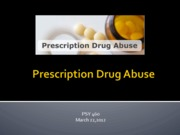 Prescription Abuse Lecture