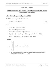 ECON 452 Lecture 9 Notes