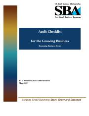 Small Business Audit Checklist