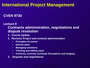 L08 CVEN 9730 S2 11 PPT Negotiation and dispute resolution