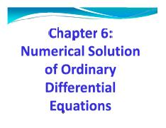 Numerical solution of ordinary differential equations Numal
