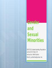 Lecture 8.3-Gender and Sexual Minorities