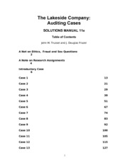 Solution Manual for Lakeside Company Case Studies in Auditing 12th Edition by Trussel