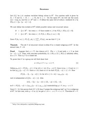 Stat 671 Recurrence Notes