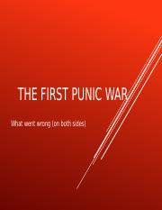 Lecture 20-The First Punic War and Hannibal  (March 28)