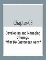 NSU B-B Marketing Chapter-8 Developing and Managing Offerings