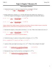 CHM113 Topic6 Ch 7 Worksheets_KEY