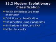 Modern-Evolutionary-Classification