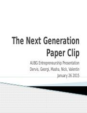 The Next Generation Paper Clip