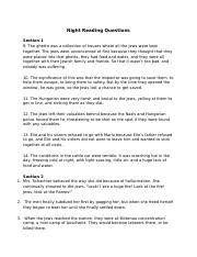 01.22.16 Night Reading Questions - Sec. 1-2