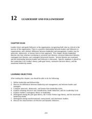 Chapter 12 Leadership and Followership  teacher resources  nqimch12