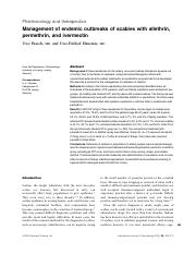 management of endemic outbreaks of scabies with allethrin permethrin & avermectin.pdf