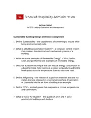 HF270 Extra Credit Assignment with Answers - HF270