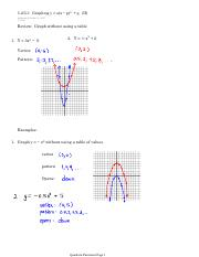 5.25.3 Graphing y = a(x − p)2 + q (II)