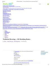 3D Modeling Basics - Technical Drawing Questions and Answers Page 2
