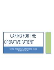 Caring for the Operative Patient Adult Health