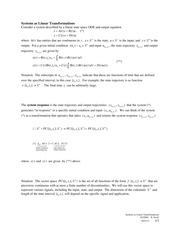 2011-10-21 Linearity and Time Invariance