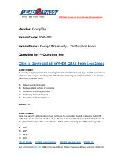 Updated Lead2pass CompTIA SY0-401 Braindump Free Download (801-900).pdf